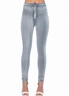 Light Grey High Waisted Light Grey Skinny Jeans Ladies Grey Stretch High Waisted