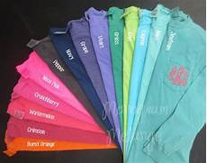 Comfort Colors Long Sleeve Color Chart These Super Soft And Comfy Comfort Colors Brand Long