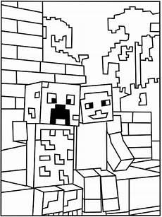 Malvorlagen Minecraft Creeper Ausmalbilder Minecraft Creeper Und Steve 1078 Malvorlage