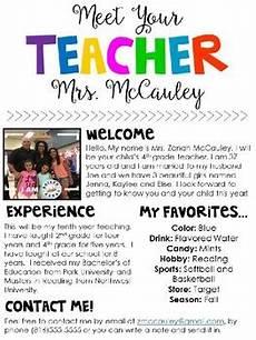 Meet The Teacher Newsletter Templates Meet The Teacher Editable Template By Zanah Mccauley Tpt