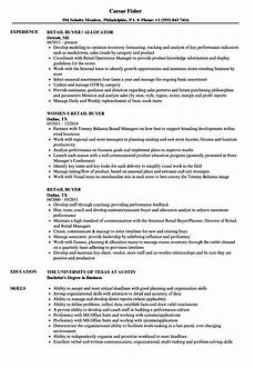 Sample Buyer Resume Resume Example Retail Buyer Retail Buyer Resume