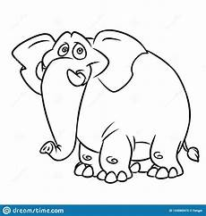 big blue elephant coloring page animal