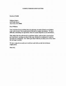Employment Termination Letter Template Free Sample Of Employee Termination Letter Google Search