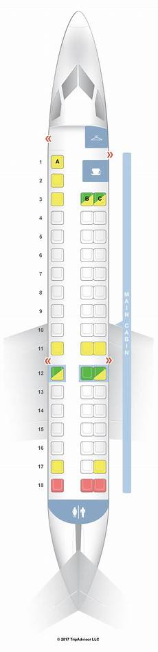 American Eagle Seating Chart Seatguru Seat Map American Airlines Embraer Erj 145 Er4