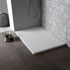 piatto doccia sottile piatto per doccia in resina bianco pietra 80x100 cm kv store