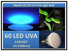 Uvb Led Reptile Light Snake Turtle Lizard Reptile 60 Led Uv Uva Light Bulb 110v