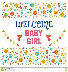 Welcome Baby Girl Welcome Baby Girl Baby Girl Shower Card Baby Girl