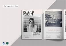Magazine Template Fabulous Fashion Magazine Template In Word Publisher
