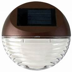 Solar Step Lights Home Depot Moonrays Solar Bronze Outdoor Intergated Led Round Mini