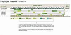 Employee Absence Template Absence Tracking Calendar
