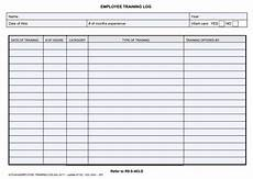 Staff Training Record Template Free Training Log Templates 10 Free Printable Word Excel
