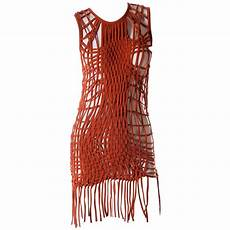 jean paul gaultier macrame fringe dress at 1stdibs