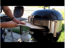 KettlePizza attachment on Weber One Touch Gold   YouTube