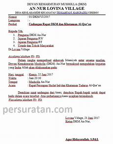 contoh undangan kerja bakti mushola 23 contoh surat undangan rapat orang tua siswa kerja