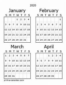 2020 Three Month Calendar Printable 2020 Calendars Pdf Calendar 12 Com