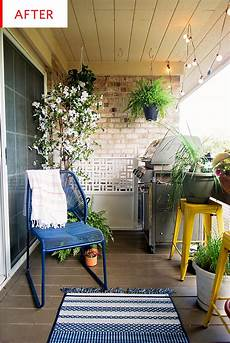 before and after this small balcony was turned into a