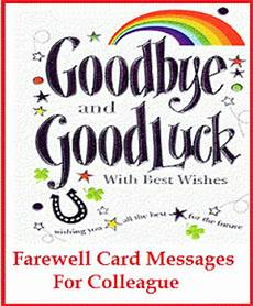 Free Printable Farewell Card For Colleague Sample Messages And Wishes Farewell Card Wordings For