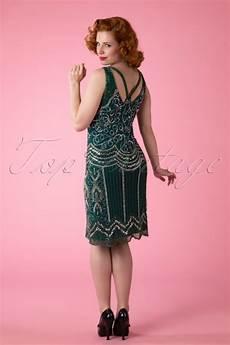 Frock And Frill Size Chart 20s Ziegfeld Flapper Dress In Emerald Green