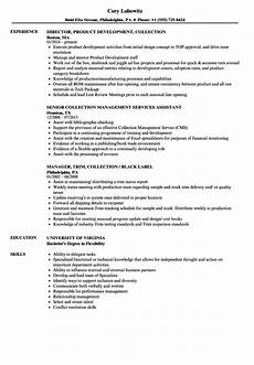 Collection Resume Examples Collection Resume Samples Velvet Jobs