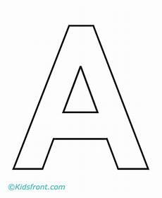 Ausmalbilder Einzelne Buchstaben A 1st Alphabet Coloring Pages Printable