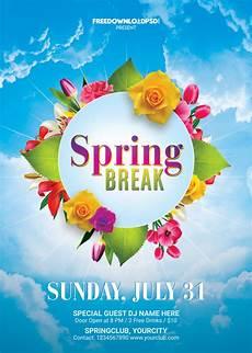 Spring Event Flyer Template Spring Break Flyer Free Template Freedownloadpsd Com