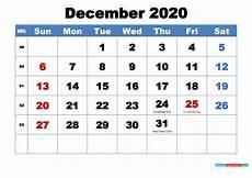Free December 2020 Calendar Free Printable December 2020 Calendar With Holidays Free