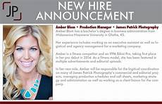 New Hire Announcement October 2014 James Patrick Photography
