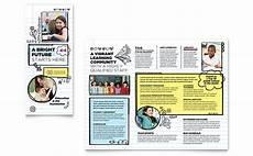 School Brochures Templates Elementary School Brochure Template Word Amp Publisher