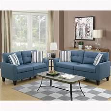 venetian worldwide sardinia 2 blue sofa set vene