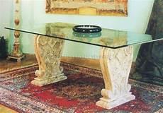 basamenti per tavoli tavolo con piano in vetro e basamento in marmo vendita on