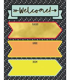 Welcome Chart For Classroom Aim High Welcome Chart Grade 2 8 Carson Dellosa Publishing