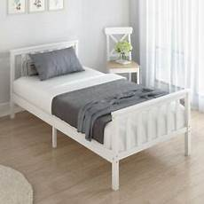 white wooden bed frame pine 3ft single size solid pine and