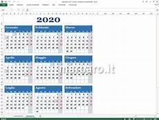 Calendario 2020 Xls Calendario 2020 Excel Con Le Festivit 224 Italiane Da Stampare