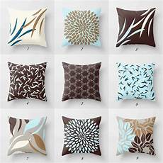 Sofa Pillows Decorative Sets Brown 3d Image by Blue And Brown Throw Pillow Covers Decorative Pillows