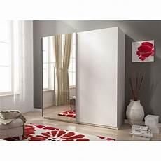 2 sliding 2 door mirrored wardrobe in matt modern