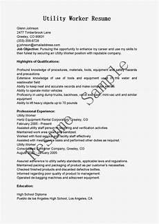 Utility Resume Resume Samples Utility Worker Resume Sample