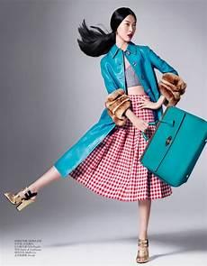 tian yi wears new season fashions for vogue china by