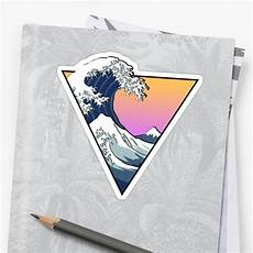 Redbubble Design Quot Great Wave Aesthetic Quot Sticker By Zayter Redbubble