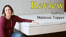 subrtex 3 inch gel infused memory foam bed mattress topper