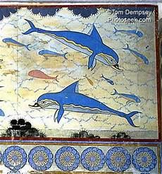 minoan fresco paintings in knossos palace arte mural