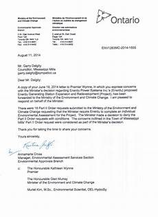 Letters Of Concern The Ontario Government Responds To Counclllor Dalgity S