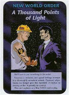 A Thousand Points Of Light Illuminati A Thousand Points Of Light Nwo Game Card