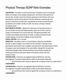 Soap Notes Physical Therapy Soap Therapy Note Template Merrychristmaswishes Info