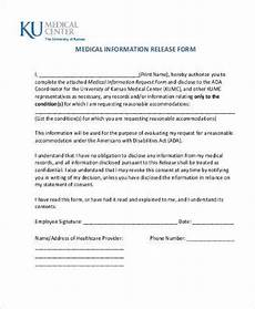 Generic Release Of Medical Information Form Free 8 Sample Medical Information Release Forms In Ms