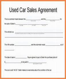 Contract For Selling A Car Blank Used Car Sales Agreement Free Download Gino Car