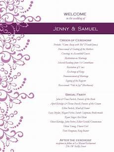 Program Template For Wedding Wedding Program Templates Free Weddingclipart Com