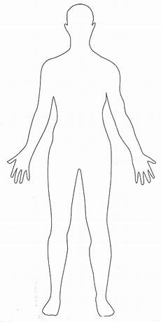 Outline Of Human Body Front And Back Human Body Drawing Templates At Getdrawings Free Download