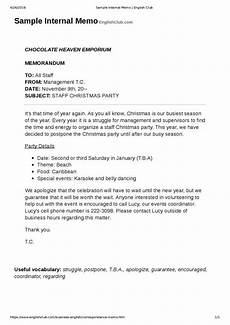 Memo Style Letter How A Business Memo Is Different From A Business Letter