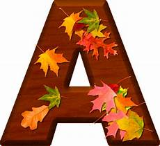 Fall Letters Template Presentation Alphabets Cherry Wood Leaves Letter A