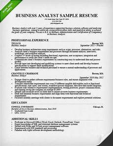 Example Of Business Resume Business Analyst Business Analyst Professional Resume